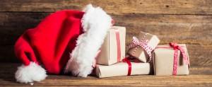 Holiday Success - Santa hat with gifts