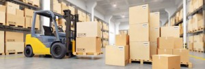Large Order Fulfillment - Forklift with boxes
